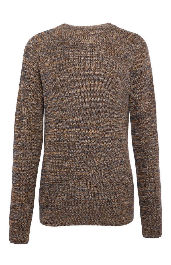 Greige Texture Rib Sweater