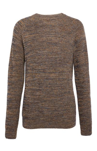 Taupe Textured Sweater