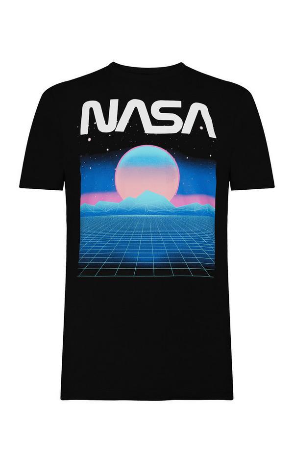 """Rosa-blaues """"Nasa"""" T-Shirt"""