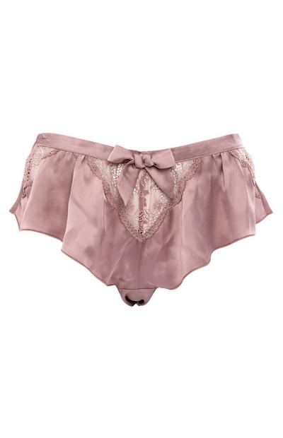 Mauve Lace Floaty Brief