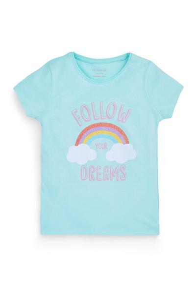 T-shirt met 'Follow Your Dreams' voor meisjes