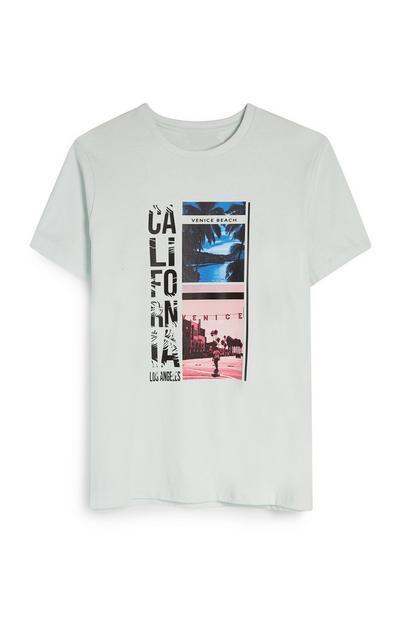 California Photo Print White T-Shirt