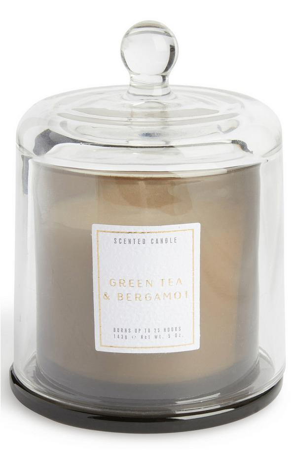 Green Tea And Bergamot Bell Jar Candle