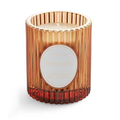 Vela votiva copo estriado Sandalwood