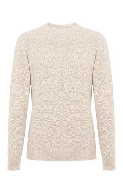 Cream Moss Stitch Twist Sweater
