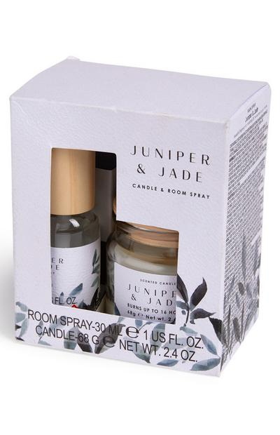 Set candela e spray per ambienti Juniper And Jade