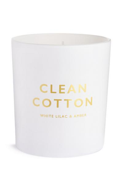 Clean Cotton Circular Votive Candle