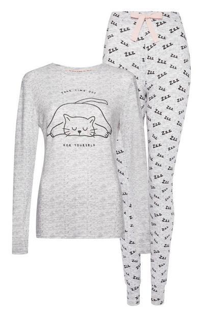 Grijze Zzz-pyjama