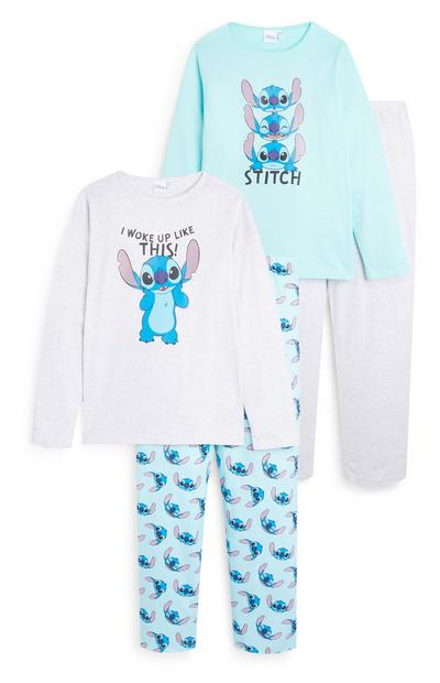 Lot de 2 pyjamas Stitch