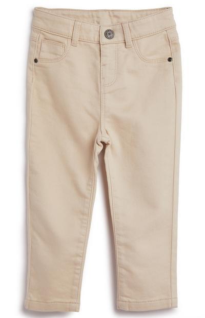 Pantalon skinny beige en sergé bébé garçon