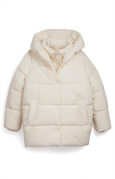Older Girl Cream Duvet Padded Coat