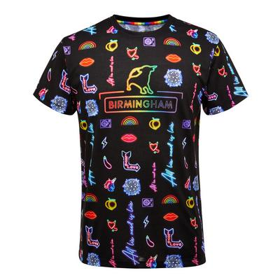 Proud Neon Birmingham Print T-Shirt
