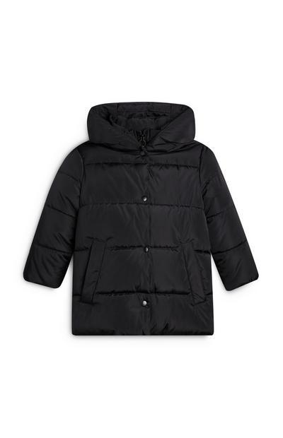 Younger Girl Black Padded Coat