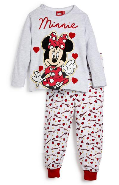 Pyjama gris et rouge Disney Minnie Mouse fille