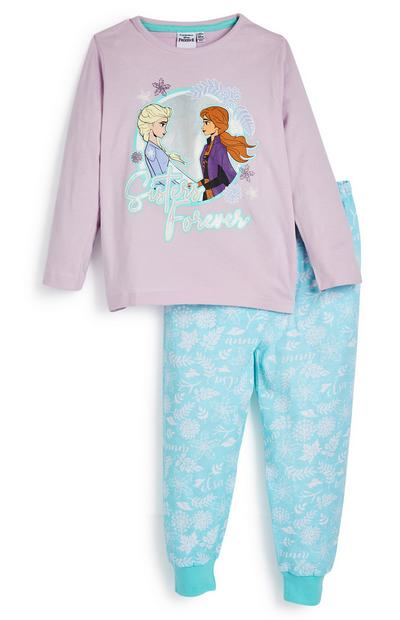 Younger Girl Disney Frozen Blue And Pink Pyjamas