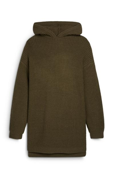Older Girl Khaki Longline Jumper