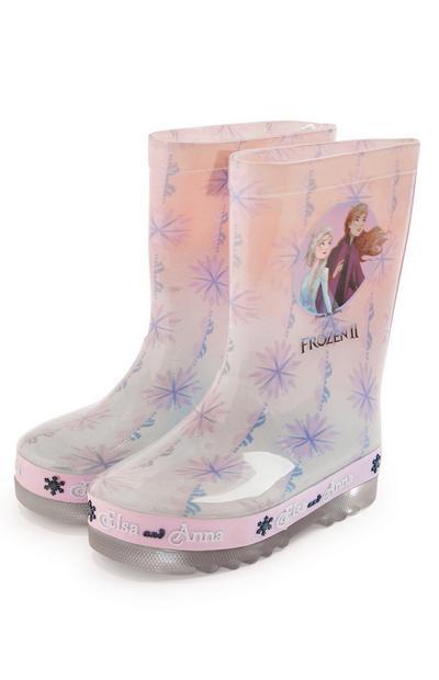 Younger Girl Pink Disney Frozen Rainboot Wellies
