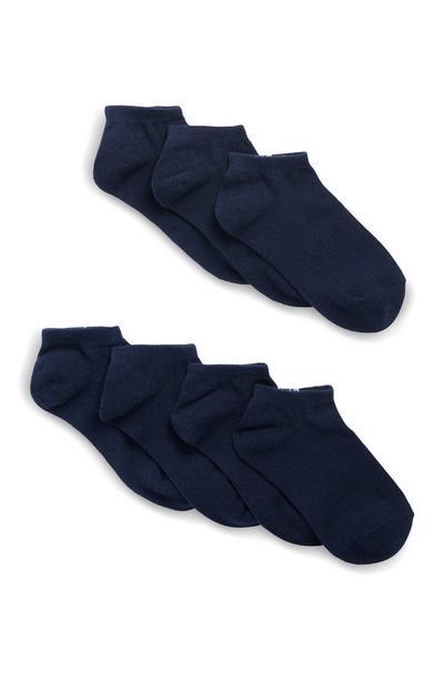 Pack de 7paires de chaussettes bleu marine
