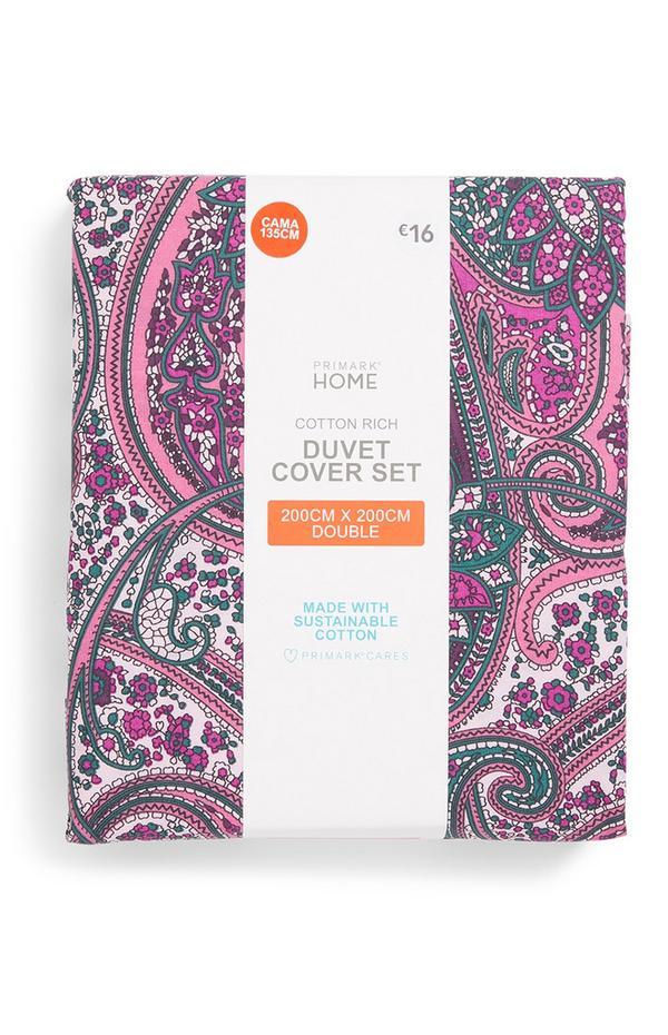 Pink Paisley Pink Duvet Cover Set
