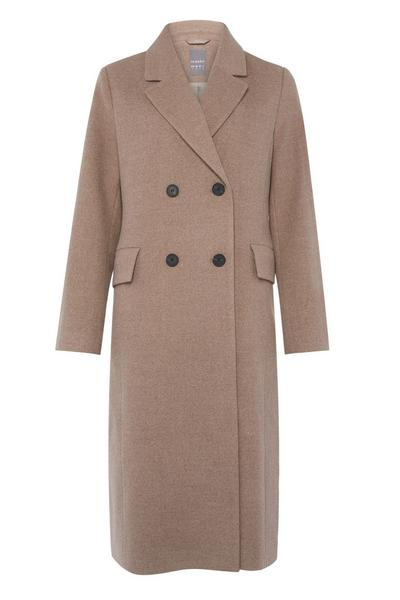 Manteau beige long habillé