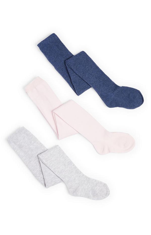 Dekliške hlačne nogavice iz bombažnega džinsa za dojenčke