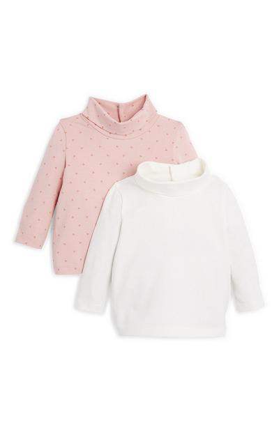 Baby Girl Roll Neck Sweaters 2 Pack