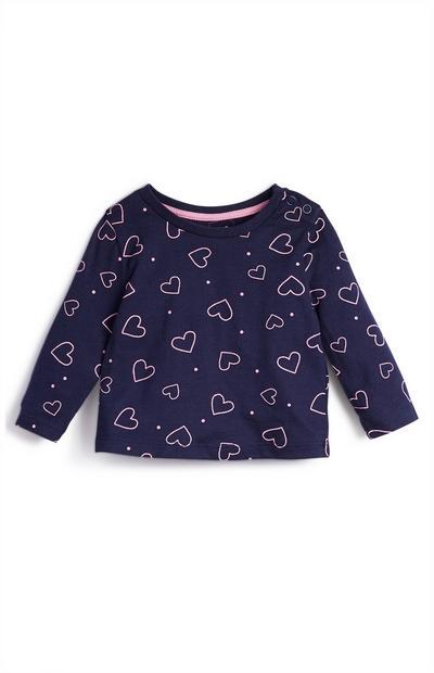 Dekliška majica z dolgimi rokavi za dojenčke, 3 kosi