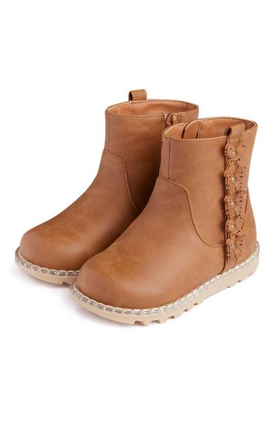 Younger Girl Applique Boots