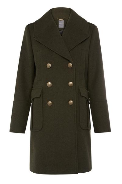 Dark Green Military Coat