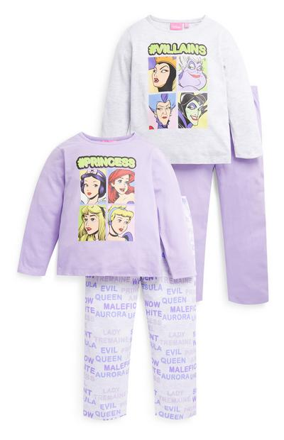 Younger Girl Disney Princess Pyjamas 2 Pack