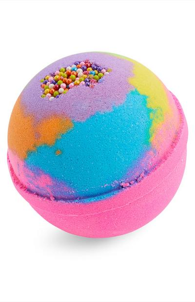 Bombe de bain à mini billes multicolores