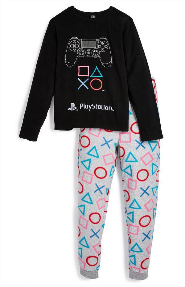 Pižama iz flisa PlayStation za starejše fante