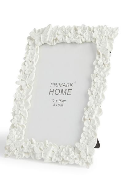 White Floral Photo Frame 4X6 inch