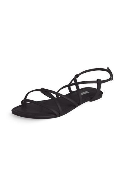 Sandali neri con listini