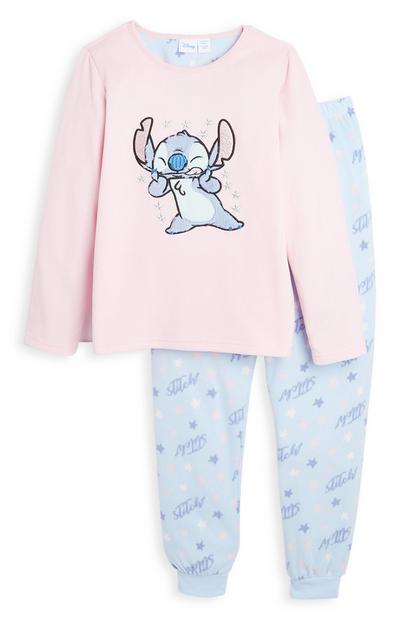 Older Girl Stitch Fleece Pyjamas