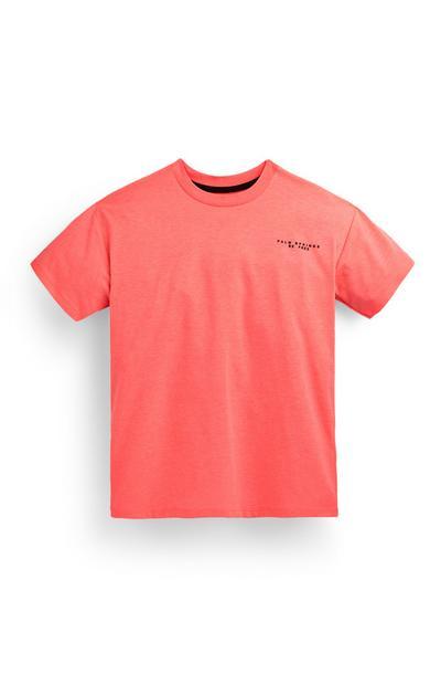 Roze T-shirt Palm Springs voor jongens