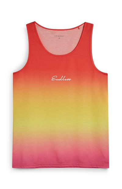 Ombre Pink Endless Slogan Tank