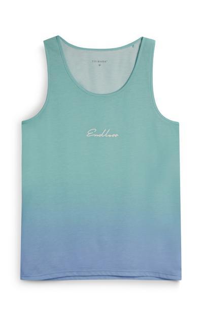 Modra majica brez rokavov z napisom Endless, Ombre