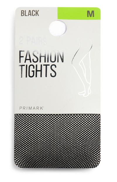 Black Small Fishnet Tights 2Pk