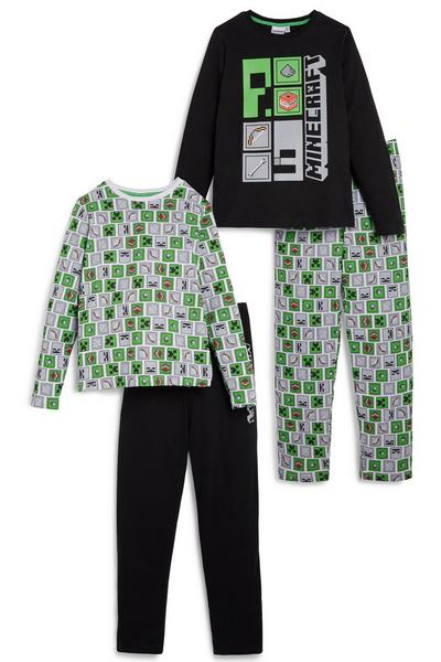 Minecraft Pyjama Set 2 Pack