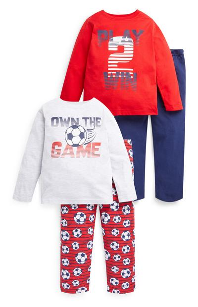 Younger Boy Football Pyjamas 2 Pack