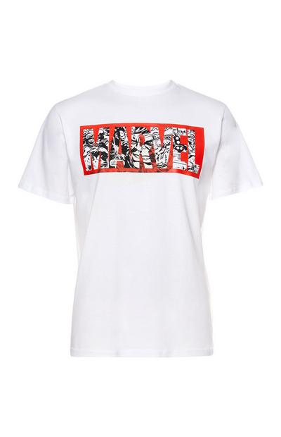 Wit T-shirt Marvel Comic