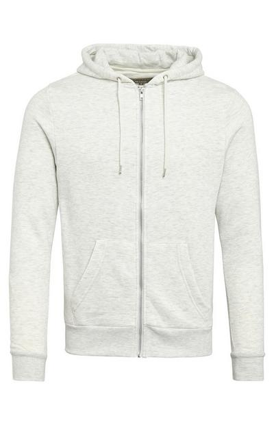 Stone Basic Zip Up Hoodie