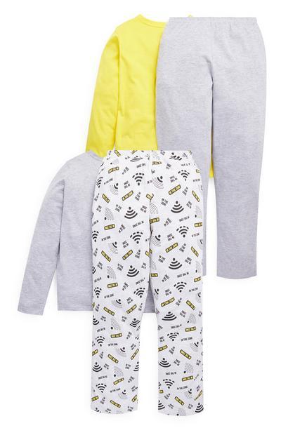 Pyjama met 'Wifi' voor oudere jongens, set van 2