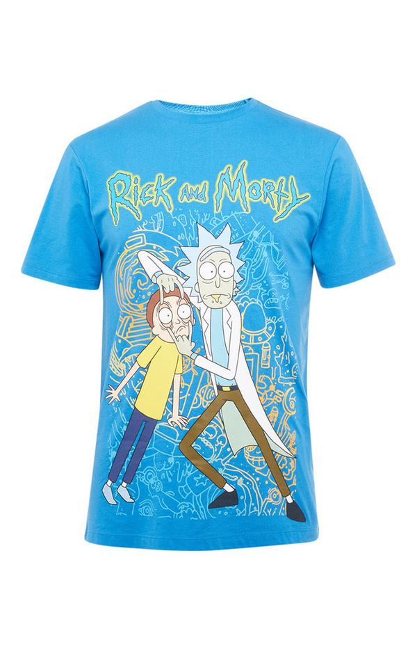 "Blaues ""Rick and Morty"" T-Shirt"