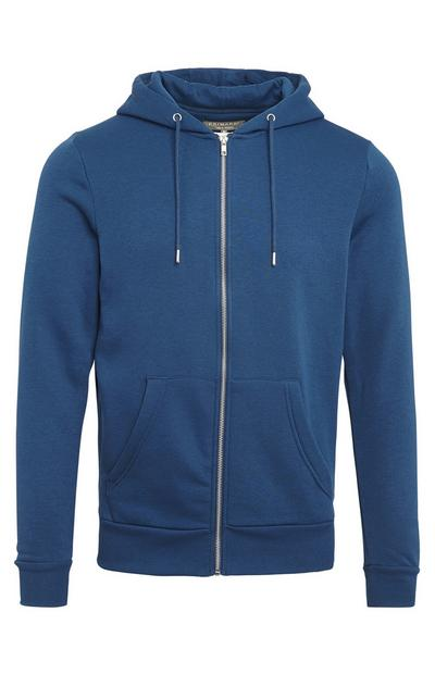 Teal Basic Zip Up Hoodie
