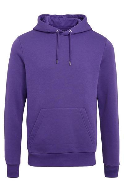 Purple Basic Pull Over Hoodie