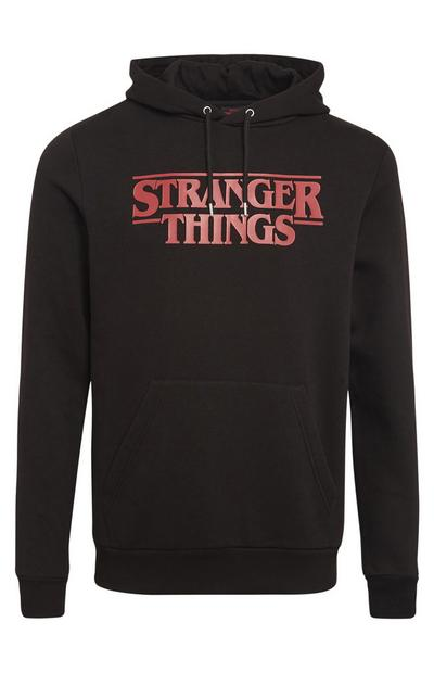 Black Stranger Things Pull Over Hoodie