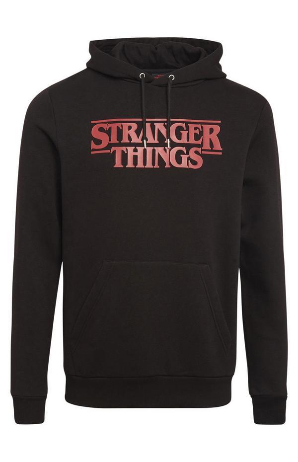 Black Stranger Things Pullover Hoodie