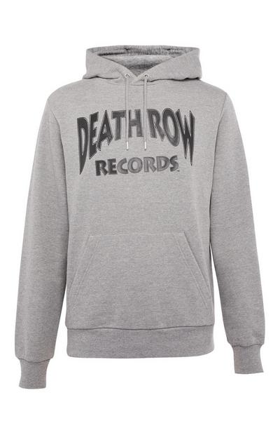 Sweat à capuche gris Deathrow Records